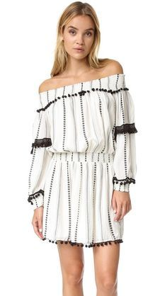 Buy Beige Tularosa Casual dress for woman at best price. Compare Dresses prices from online stores like Shopbop - Wossel United States White Dress Winter, Winter White, Curly Hair Tutorial, Tribal Print Dress, Casual Day Dresses, Color Beige, Striped Dress, High Fashion, Curly Hair Styles