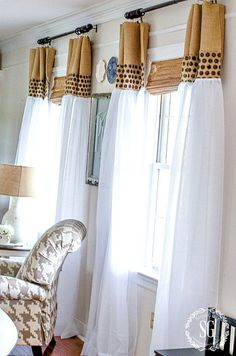10 FAVORITE STONEGABLE HOME DCOR HACKS- What is better than finding an easier and cheaper way to do something around the house? I have 10 great home decor hacks that will rock your home! Home Decor Hacks, Easy Home Decor, Cheap Home Decor, Decorating Hacks, Summer Decorating, African Interior, African Home Decor, Diy Curtains, Sheer Curtains