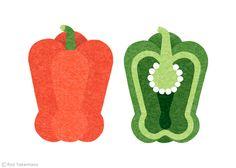Orange Page March 2 2014 by Ryo Takemasa, via Behance Vegetable Illustration, Flat Illustration, Food Illustrations, Ryo Takemasa, Vegetable Drawing, Guache, Fruit Art, Collage Art, Food Art