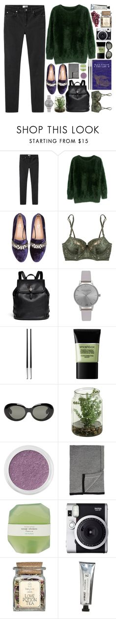 """""""i'm seeing the pain, seeing the pleasure"""" by deep-breaths ❤ liked on Polyvore featuring Acne Studios, Yosi Samra, Elle Macpherson Intimates, Alexander McQueen, Olivia Burton, Christofle, Smashbox, Bare Escentuals, Barneys New York and Pelle"""