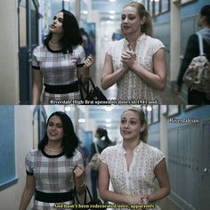 """#Riverdale 1x01 """"Chapter One: The River's Edge"""" - Veronica and Betty"""