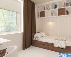Proiect-de-casa-mica-Parter-136011-8 Home Fashion, Bunk Beds, Bookcase, Loft, Shelves, House Styles, Projects, Furniture, Home Decor