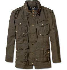 Burberry ProrsumWaxed-Cotton Field Jacket|MR PORTER