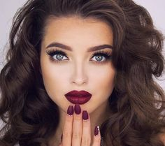 Minus the dark lipstick
