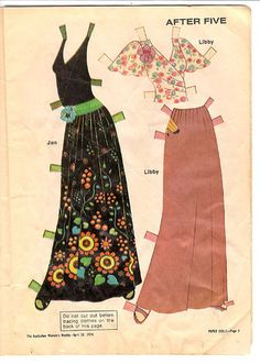 Women's Weekly Paper Dolls - After Five   Flickr - Photo Sharing!