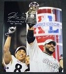 "Hines Ward & Jerome Bettis Dual Signed 20x24 with inscriptions ""Taking The Bus To Disney"" and ""How Sweet It Is!""  #Steelers"