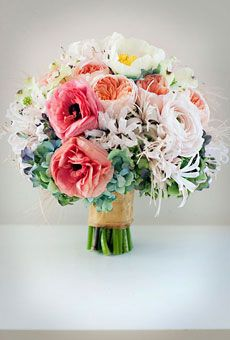 hydrangeas, nerines, ranunculuses, peonies, juliet garden roses and dogwood blooms Spring Wedding Bouquets, Peony Bouquet Wedding, Pink Bouquet, Bridesmaid Bouquet, Wedding Flower Photos, Wedding Flowers, Wedding Bells, Peonies And Hydrangeas, Wedding Planning