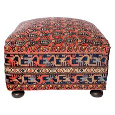Oriental Rug Ottoman   From a unique collection of antique and modern ottomans and poufs at https://www.1stdibs.com/furniture/seating/ottomans-poufs/