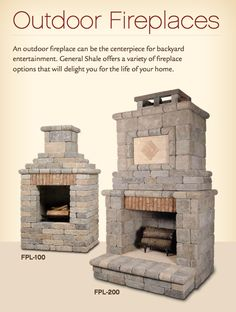 more outdoor fireplaces with brick