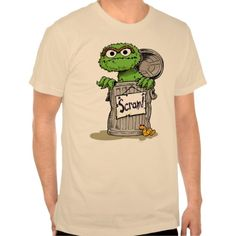 Oscar the Grouch Scram Tee Shirt T-Shirt, Hoodie for Men