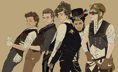 One Direction Steampunk AU