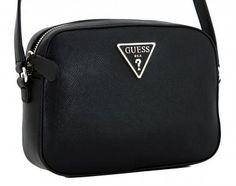 2afbef2dbb492 Umhängetasche Guess Carys schwarz strukturiert Logo Top Zip - Bags   more