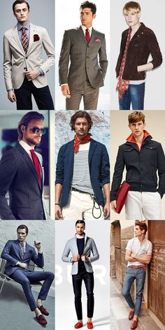 Men's 2015 Spring/Summer Fashion Trend: Accents & Accessories in Red Lookbook Inspiration