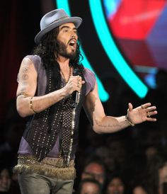 2012. Host Russell Brand speaks onstage during the 2012 MTV Movie Awards held at Gibson Amphitheatre on June 3, 2012 in Universal City, California.