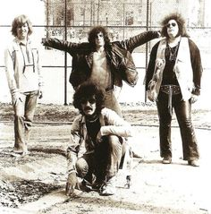 Steve Knight,  Felix Pappalardi (front), Corky Laing, Leslie West.  Mountain