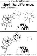 None Spot The Difference Printable, Different, Printables, Print Templates