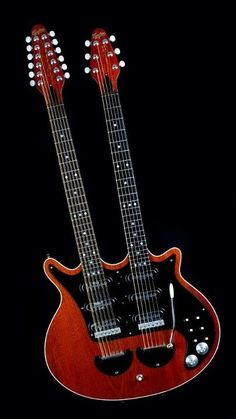 Guyton Guitars Brian May Red Special 12/6str Doubleneck => Luthier Andrew J Guyton www.guytonguitars.com