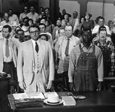 To Kill a Mockingbird.  Every time I watch the movie, I stand as Atticus Finch leaves the courtroom ...