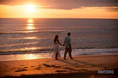 St. Augustine Beach Florida - Sunrise Engagement Session walk on the beach - by Footstone Photography  www.footstonephotography.com