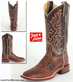 Tony Lama® Ladies' Nicotine Cross Cowgirl Boots