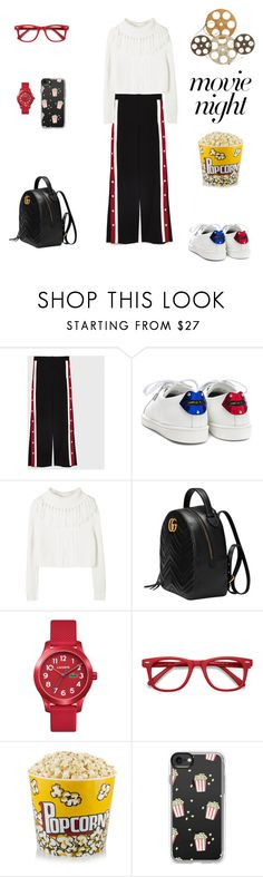 """Movie Night!"" by sebolita ❤ liked on Polyvore featuring Yves Saint Laurent, Gucci, Lacoste, Ace, Casetify and Benzara"