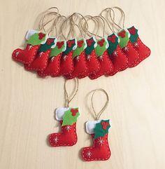 Navidad conjunto de 12 adornos. Regalos hechos a mano. Adornos