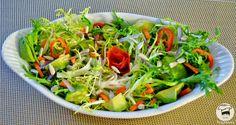 Salada com Abacate e Sementes de Girassol