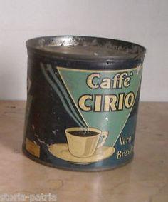 NAPOLI_CONSERVE CIRIO_CAFFE'_SCATOLA BLU_DA COLLEZIONE_ANTICA PUBBLICITARIA | eBay