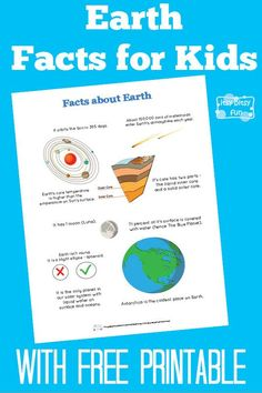 Fun Earth Facts for Kids With Free Printables