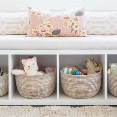 Alyssa Rosenheck: Freestanding Nursery Storage Bench Window Seat