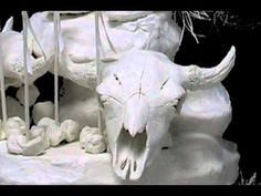 Learn Cast Paper Sculpture with the Eckman Method an make a Buffalo Pipe
