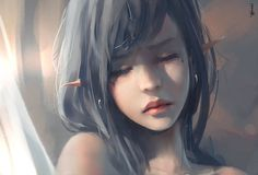 |Facebook|Patreon|Tumblr|Twitter|Artstation|Tapastic| painting with video process recorded as portrait tutorial, Ice princess in Gh...