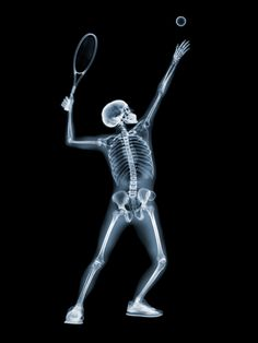 X-ray tennis player #tennisart