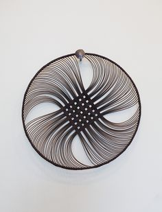 Beautiful weaving by Auckland artist Ruth Castle. Hand woven from cane with a dyed rattan core, we love these intricate dishes as decorative wall hangin. Bamboo Weaving, Basket Weaving, Contemporary Baskets, Nz Art, Mood Images, Bamboo Crafts, Weaving Techniques, Soft Sculpture, Textures Patterns