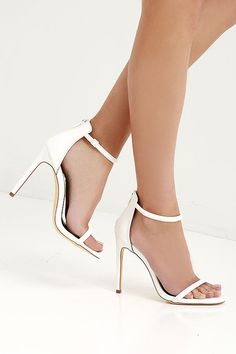 a19089746d5 Put together all your favorite outfits with the Keen Eye White Ankle Strap  Heels! White