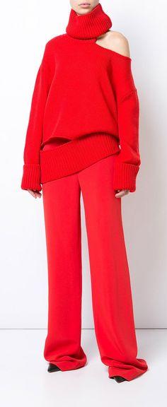 Monse One Shoulder Knit Jumper - Farfetch d5ea0795b