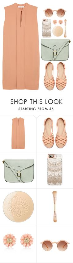 """Nude in Spring"" by grapecar ❤ liked on Polyvore featuring Chloé, Zara, Dorothy Perkins, Casetify, Paul & Joe, H&M, River Island, ASOS, brunch and polyvoreeditorial"