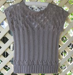 Ravelry: #7 Leaf Lace Top pattern by Hitomi Shida (志田 ひとみ)