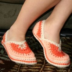 Slippers (crochet pattern)