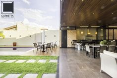 casas terrenas, varanda, estrutura metálica, madeira, concreto, loft, casas modernas, casas integradas