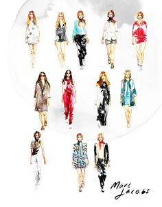 Marc by Marc Jacobs SS14 illustration for Lucky Magazine by Samantha Hahn