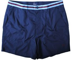 Fred Perry Medal Tape Swim Short Navy