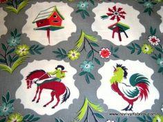 Cowboy Print Cotton Fabric | Cowboys - Vintage Heavy Cotton Cowboy Fabric - www.RevivalFabrics.com