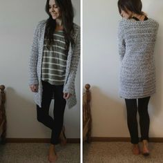 [Free Pattern] Super Warm And Comfy Long & Chunky Cardigan Sweater - Knit And Crochet Daily