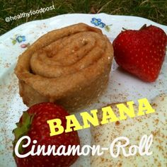 Ripped Recipes - Banana-Cinnamon-Roll - single serving recipe for an amazing banana-cinnamon-roll  NOTE: im using quark instead of greek yogurt but i think itll work with greek yogurt too!!