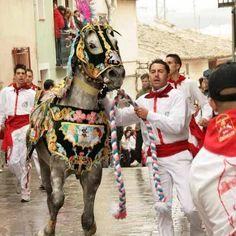 Carrera de Los Caballos del Vino, 2 de Mayo. Race of the Wine Horses, 2nd May. Caravaca de la Cruz, Murcia, Spain