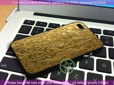Vintage Cigarette Case Gold iPhone 4/4S/5, Samsung S4/S3/S2 cover cases | sedoyoseneng - Accessories on ArtFire