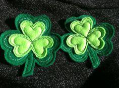 Shamrock Pin  Felt  St Patrick's Day by SewRobinGifts on Etsy, $3.50