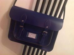 My new satchel.  When it arrived, it was so obviously TARDIS blue, I had to pop something into the label =)  And yes... It's bigger on the inside!