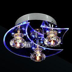 Chandelier Modern LED Crystal Living 3 Lights 2017 - $45.59